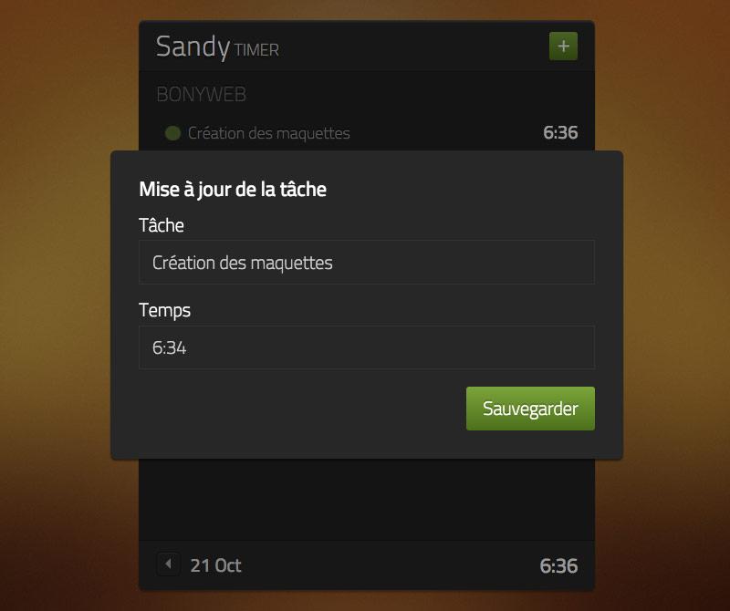 SandyTimer - Time Tracking