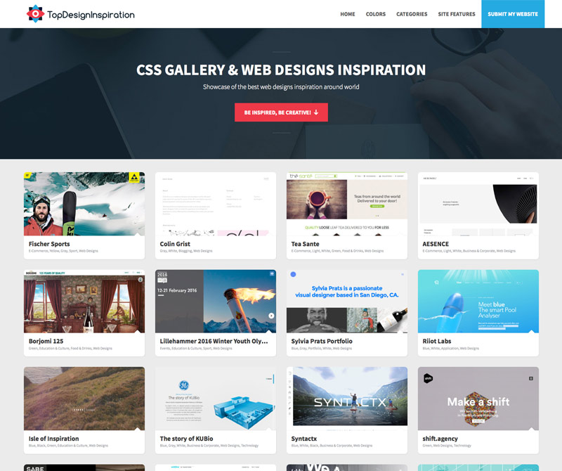 TopDesignInspiration - Best Web design & CSS inspiration gallery