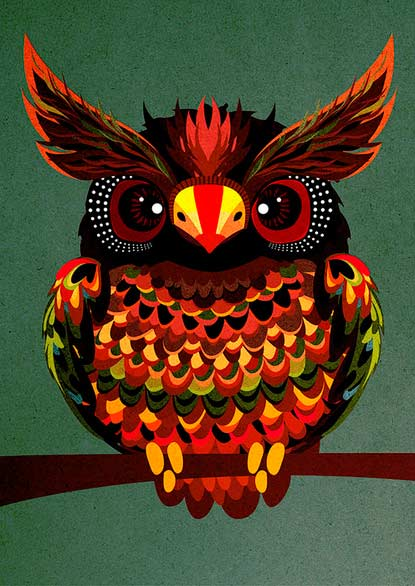 illustrations hibou
